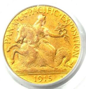 1915 S PANAMA PACIFIC GOLD QUARTER EAGLE $2.50 COIN   PCGS CERTIFIED   XF / AU