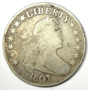 1807 DRAPED BUST HALF DOLLAR 50C   VG / FINE DETAILS    EARLY COIN