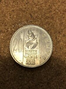 COIN FIJI   20 CENTS SOUTH PACIFIC GAMES QUEEN ELIZABETH II 2003  A49