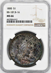 Click now to see the BUY IT NOW Price! 1800 DRAPED BUST $1 NGC MS 66