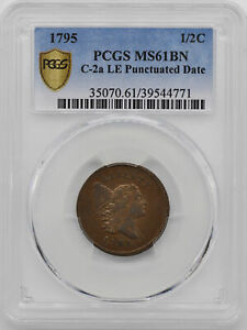 Click now to see the BUY IT NOW Price! 1795 LIBERTY CAP 1/2 PCGS MS 61 BN
