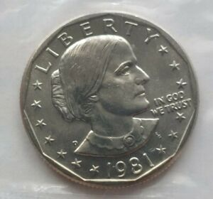 1981 D SUSAN B ANTHONY DOLLAR US MINT UNC