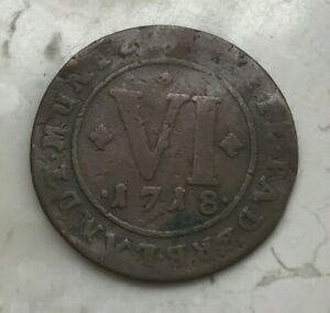 Click now to see the BUY IT NOW Price! 1718 GERMAN STATES BISHOPRIC OF PADERBORN 6 PFENNIG