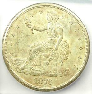 1876 S TRADE SILVER DOLLAR T$1 COIN   CERTIFIED ICG MS63  UNC BU    $1 380 VALUE