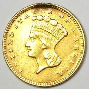 1874 INDIAN GOLD DOLLAR COIN  G$1    AU DETAILS  EX JEWELRY     COIN
