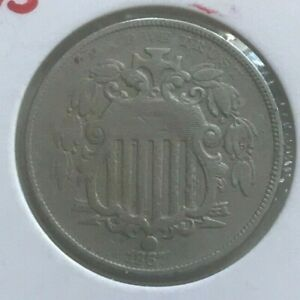 1867 SHIELD NICKEL   WITH RAYS