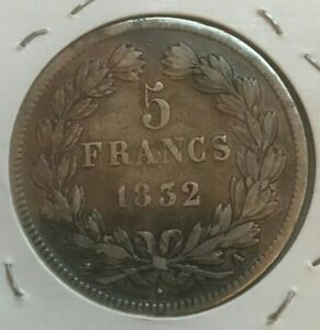 Click now to see the BUY IT NOW Price! 1832 A FRANCE 5 FRANCS   BIG SILVER