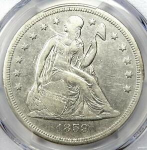 1859 O SEATED LIBERTY SILVER DOLLAR $1 CERTIFIED PCGS XF DETAIL  EF     COIN