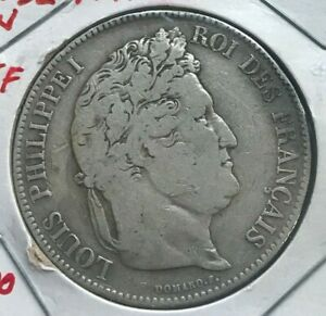 Click now to see the BUY IT NOW Price! 1832 W FRANCE 5 FRANCS   BIG SILVER