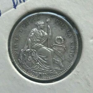 Click now to see the BUY IT NOW Price! 1916 FG  PERU 1 ONE DINERO   NICE SILVER
