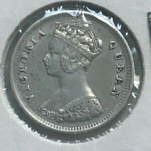 Click now to see the BUY IT NOW Price! 1893 HONG KONG 10 CENTS   NICE SILVER