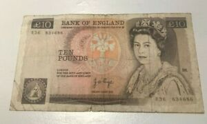 Click now to see the BUY IT NOW Price! BANK OF ENGLAND GREAT BRITAIN 10 POUNDS SERIES D WORLD CURRENCY BANKNOTE