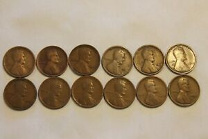1909 P   1919 LOT EACH YEAR 1912 1915 1919 S WHEAT PENNY COLLECTION LINCOLN CENT
