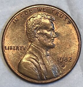 1982 D PENNY SMALL DATE ERROR COIN  DIE ERROR   USA LINCOLN MEMORIAL CENT