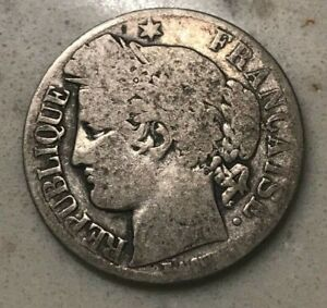 Click now to see the BUY IT NOW Price! 1872 K FRANCE 1 ONE FRANC   LOW GRADE SILVER