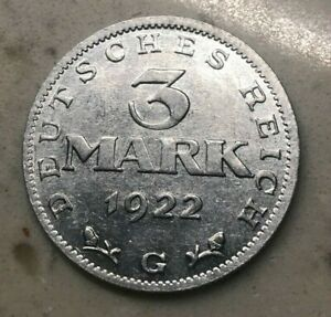 Click now to see the BUY IT NOW Price! 1922 G GERMANY 3 MARK   ALUMINUM