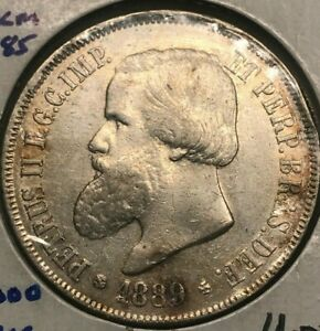Click now to see the BUY IT NOW Price! 1889 BRAZIL 2000 REIS   BIG SILVER