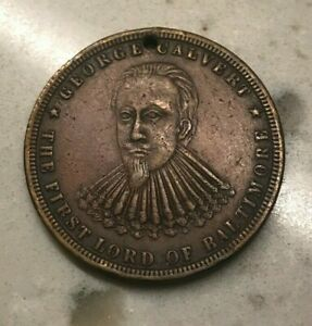 Click now to see the BUY IT NOW Price! 1730 1880 CITY OF BALTIMORE MEDAL   150TH ANNIVERSARY   GEORGE CALVERT