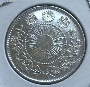 Click now to see the BUY IT NOW Price! 1870 JAPAN 20 SEN   AU/UNC DETAILS CLEANED
