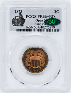 Click now to see the BUY IT NOW Price! 1873 2C PCGS PR 66  RD