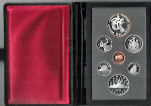 1983 ROYAL CANADIAN MINT PROOF SET   7 COIN SET  SILVER DOLLAR