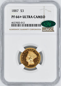 Click now to see the BUY IT NOW Price! 1887 INDIAN PRINCESS $3 NGC PR 66  DCAM
