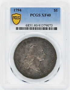 1794 FLOWING HAIR $1 PCGS XF 40