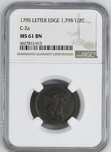 Click now to see the BUY IT NOW Price! 1795 LIBERTY CAP 1/2 NGC MS 61 BN