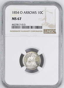 Click now to see the BUY IT NOW Price! 1854 O LIBERTY SEATED 10C NGC MS 67