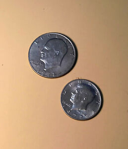 LOT OF 2 U.S. COINS IKE AND JFK