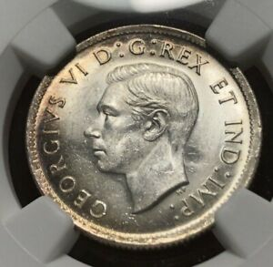CANADA 1939 CANADA 25 CENTS QUARTER   NGC MS63