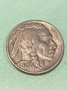 1  BEAUTIFUL VINTAGE 1935 P BUFFALO/INDIAN HEAD NICKEL WITH EXCELLENT DETAILS