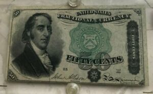 Click now to see the BUY IT NOW Price! 1864 UNITED STATES FRACTIONAL CURRENCY 50 CENT NOTE