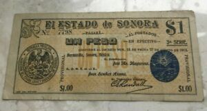 Click now to see the BUY IT NOW Price! 1913 MEXICO ESTADO DE SORONA 1 ONE PESO   WORLD BANKNOTE CURRENCY