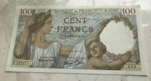 Click now to see the BUY IT NOW Price! 1941 FRANCE 100 FRANCS   NICE WORLD BANKNOTE CURRENCY