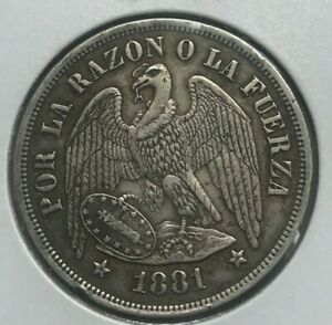 Click now to see the BUY IT NOW Price! 1881 CHILE 1 ONE PESO   BIG SILVER