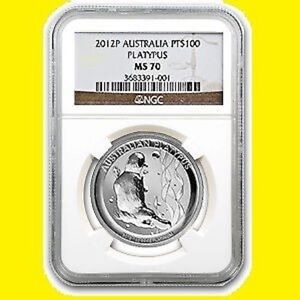 Click now to see the BUY IT NOW Price! 2012 AUSTRALIA 1 OZ 9995 PURE PLATINUM PLATYPUS NGC MS 70  LOW POP 8