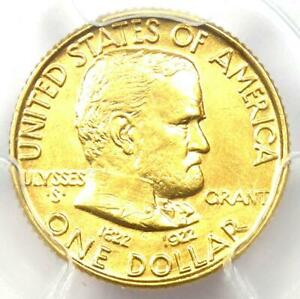 1922 GRANT GOLD DOLLAR G$1   CERTIFIED PCGS MS62 UNC    COMMEMORATIVE COIN