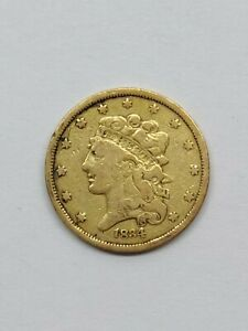 1834 GOLD LIBERTY HALF EAGLE VF DETAILS $5 DOLLAR U.S. GOLD COIN