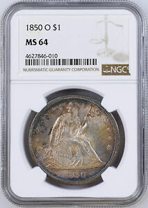 Click now to see the BUY IT NOW Price! 1850 O LIBERTY SEATED S$1 NGC MS 64