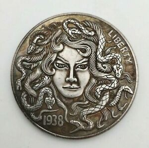 COINS MORGAN SILVER DOLLAR AMERICAN MORGAN WANDERER MEDUSA 1938 COMMEMORATIVE
