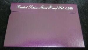 1988 PROOF SET   5 COINS   US MINT   GREAT BIRTHDAY GIFT IDEA   KENNEDY HALF
