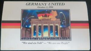 1990 MARSHALL ISLANDS GERMANY UNITED COMMEMORATIVE $5 COIN OCTOBER 3RD 1990