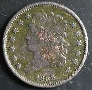 1835 HALF CENT BEAUTIFUL COIN