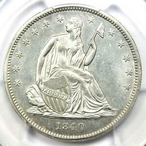 1840 SEATED LIBERTY HALF DOLLAR 50C   PCGS UNCIRCULATED DETAILS  MS UNC