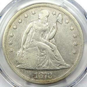 1872 SEATED LIBERTY SILVER DOLLAR $1   CERTIFIED PCGS VF DETAILS    COIN