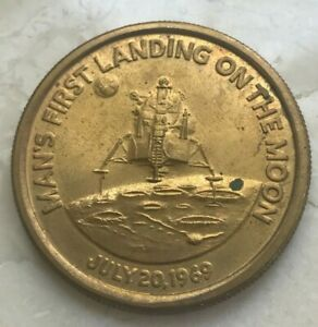 Click now to see the BUY IT NOW Price! 1969 APOLLO 11 LANDING ON THE MOON MEDAL