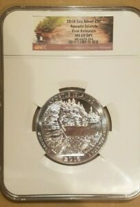 Click now to see the BUY IT NOW Price! 2018 5OZ SILVER ATB 25C APOSTLE ISLANDS NGC MS 69 DPL FIRST RELEASES UNC NICE