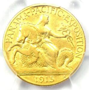 1915 S PANAMA PACIFIC GOLD QUARTER EAGLE $2.50 COIN   CERTIFIED PCGS XF40  EF40