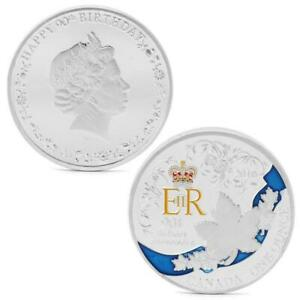 QUEEN ELIZABETH II 90TH BIRTHDAY ANNIVERSAIRE SILVER PLATED COIN CANADA NEW